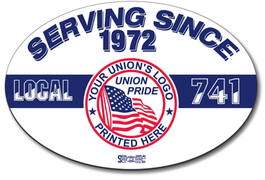 Union Bumper Stickers, Union Made and Union Printed