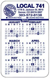 Union Card Calendars, Union Made & Union Printed