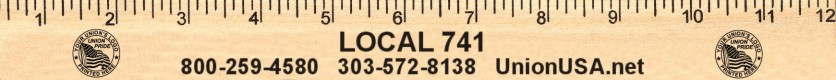 Union Printed Wooden Rulers & Yardsticks, Made in USA
