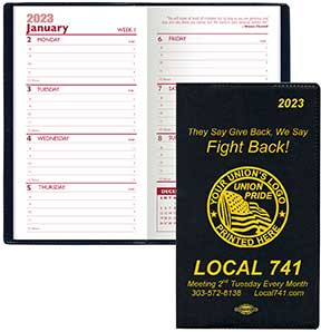 Union Pocket Planners, Union Made & Union Printed